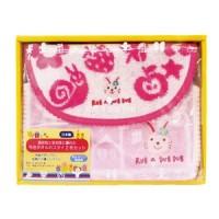 【Rub a dub dub】今治毛巾 寶寶圍兜兜禮盒組 粉色