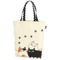 貓咪三兄弟系列 萬用購物袋 大 三兄弟圖案